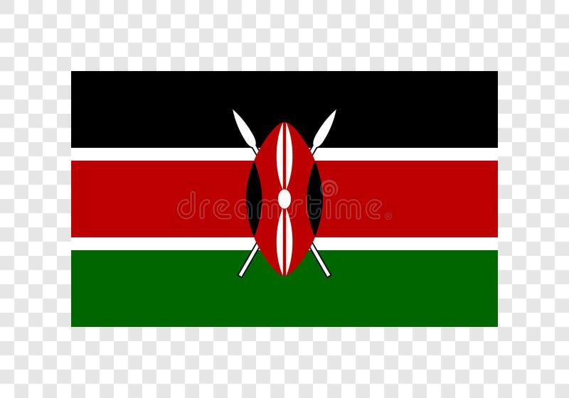 Kenia - Nationale Vlag stock illustratie