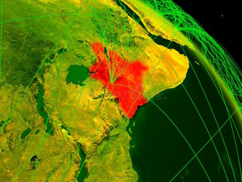 Kenia op digitale bol vector illustratie