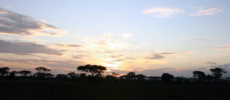 Kenia-Sonnenuntergang stockbild