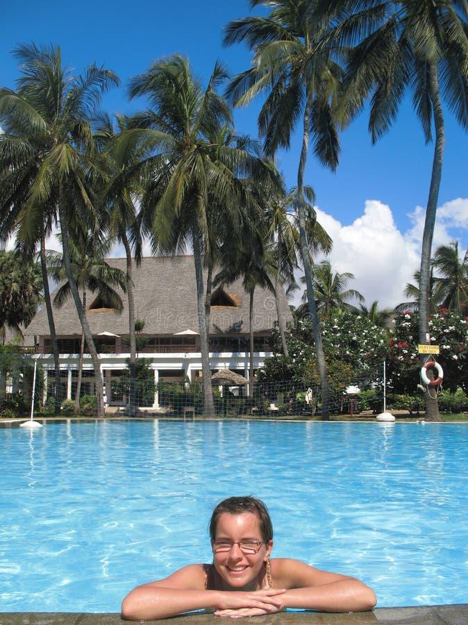 Keniaans zwembad stock foto