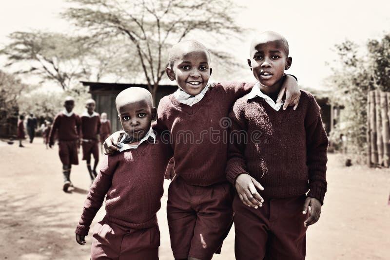 Keniaanse jongens royalty-vrije stock foto's