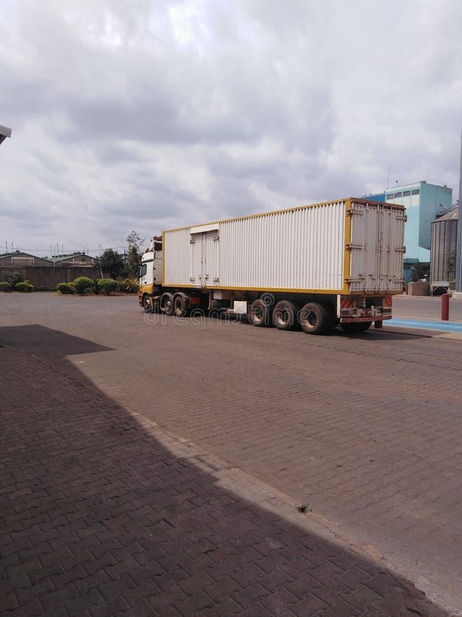 Keniaanse vrachtwagens royalty-vrije stock foto's