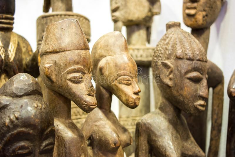 kenian ξύλινα χειροποίητα αναμνηστικά στοκ εικόνα με δικαίωμα ελεύθερης χρήσης