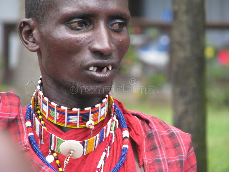 Keniya masai люди стоковое изображение rf