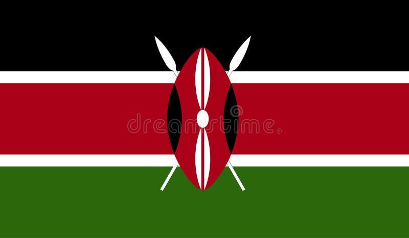Kenja flaga wizerunek ilustracja wektor