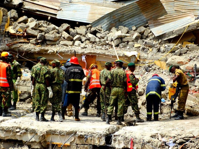 Kenja, zawalony budynek obrazy royalty free