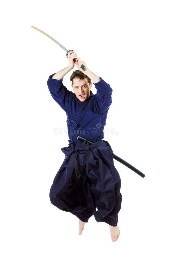 Kenjutsu imagen de archivo libre de regalías