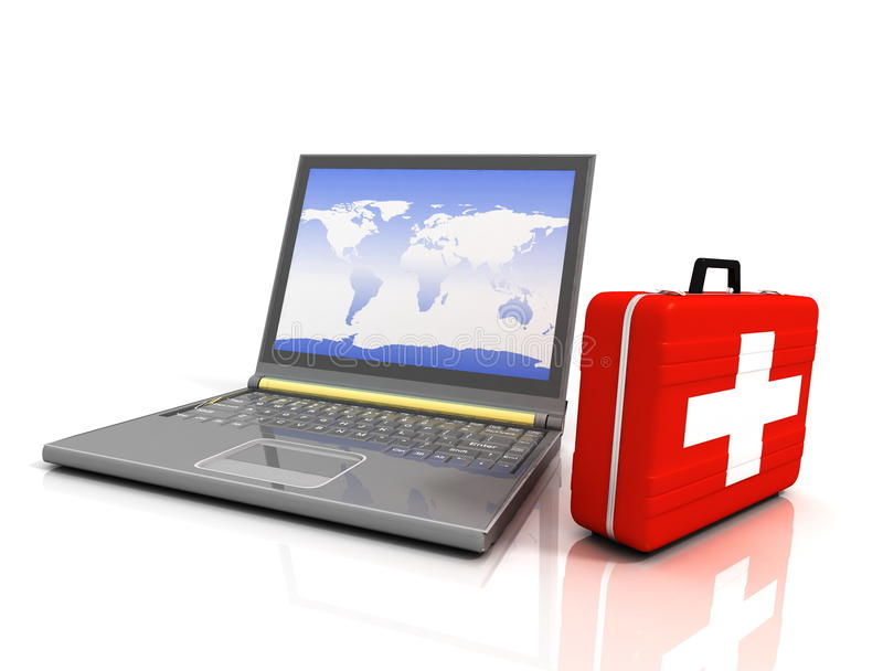 Kenmerkend Laptops vector illustratie