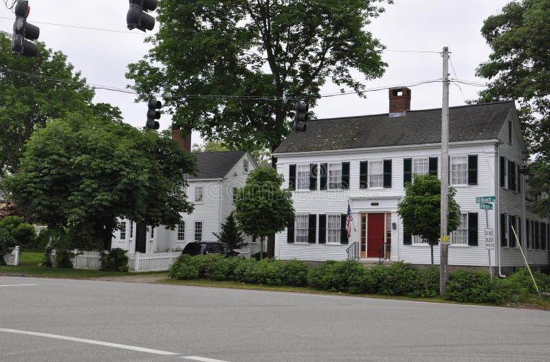 Kennebunkport, Мейн, 30-ое июня: Городские исторические дома от Kennebunkport в положении Мейна США стоковые изображения