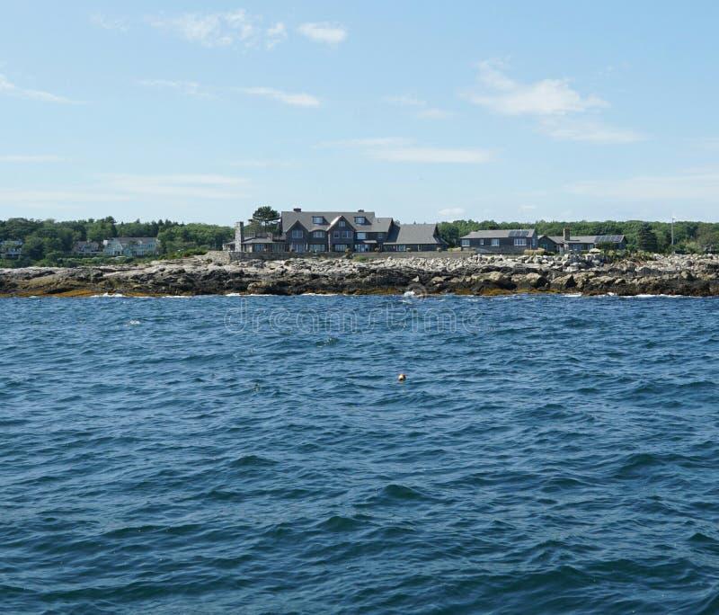 Kennebunkport Maine - compuesto de Bush imagen de archivo