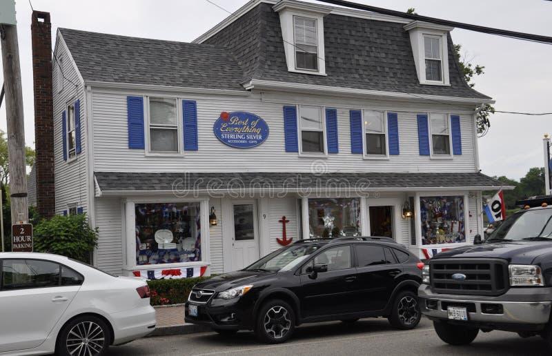 Kennebunkport, Maine, el 30 de junio: Casa histórica céntrica de Kennebunkport en el estado de Maine de los E.E.U.U. imágenes de archivo libres de regalías