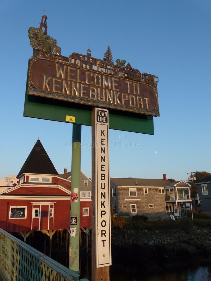 Kennebunkport znak zdjęcia royalty free
