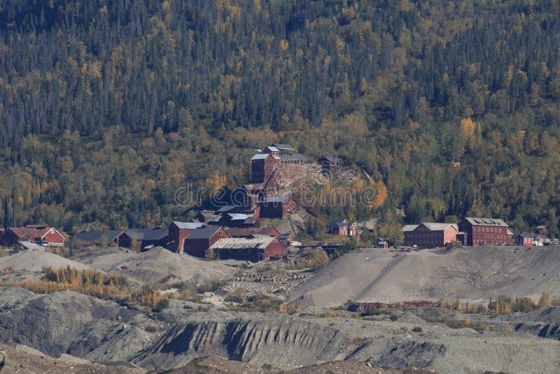 Kennecott cobre Mine, Wrangell-StElias NP, Alasca fotografia de stock royalty free