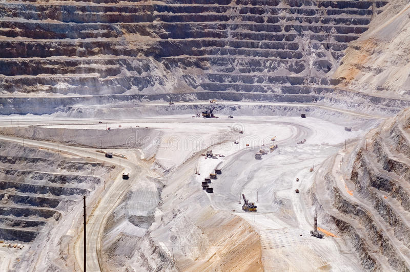 kennecott miedziana kopalnia Utah zdjęcie stock