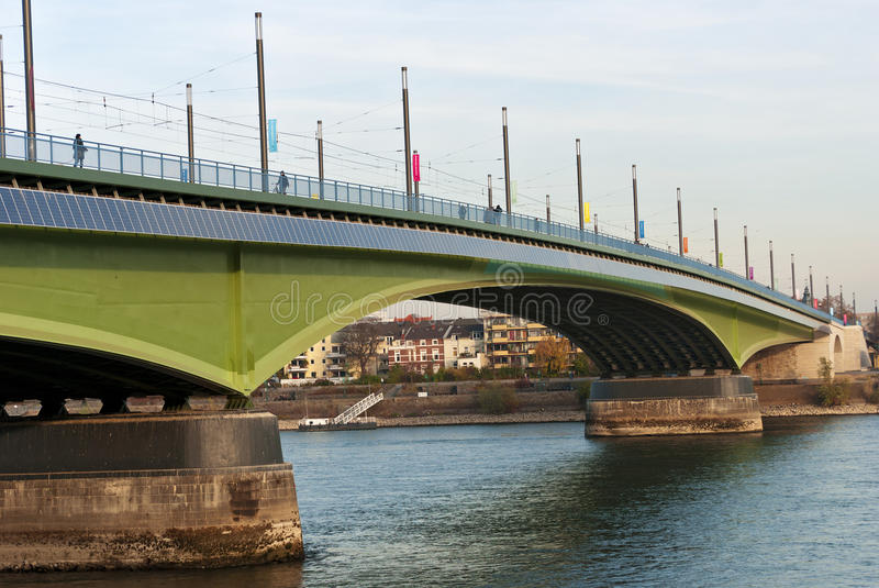 Kennedy Bridge. (German: Kennedybr�cke) after the reconstruction, middle of Bonn's three Rhine bridges, connecting the city center of Bonn with the town royalty free stock photos