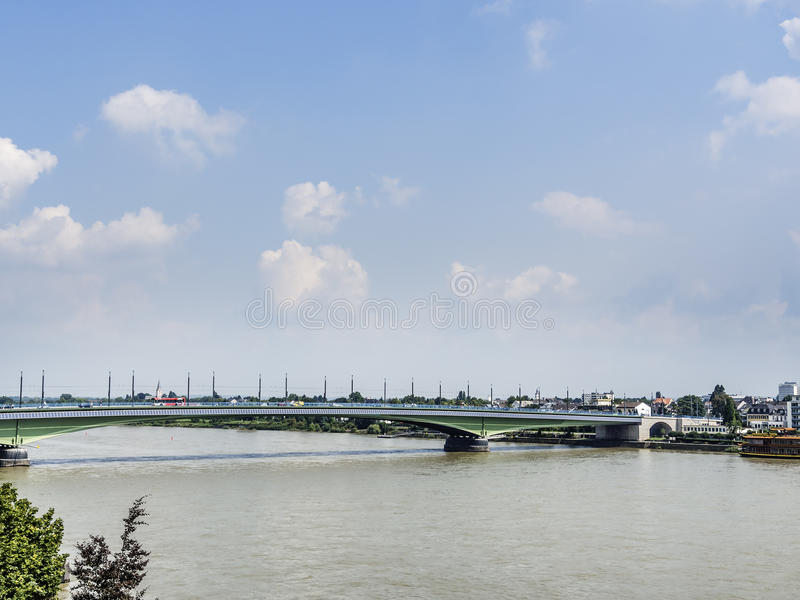 Kennedy bridge Bonn. Image of Kennedy bridge in Bonn, Germany stock photo