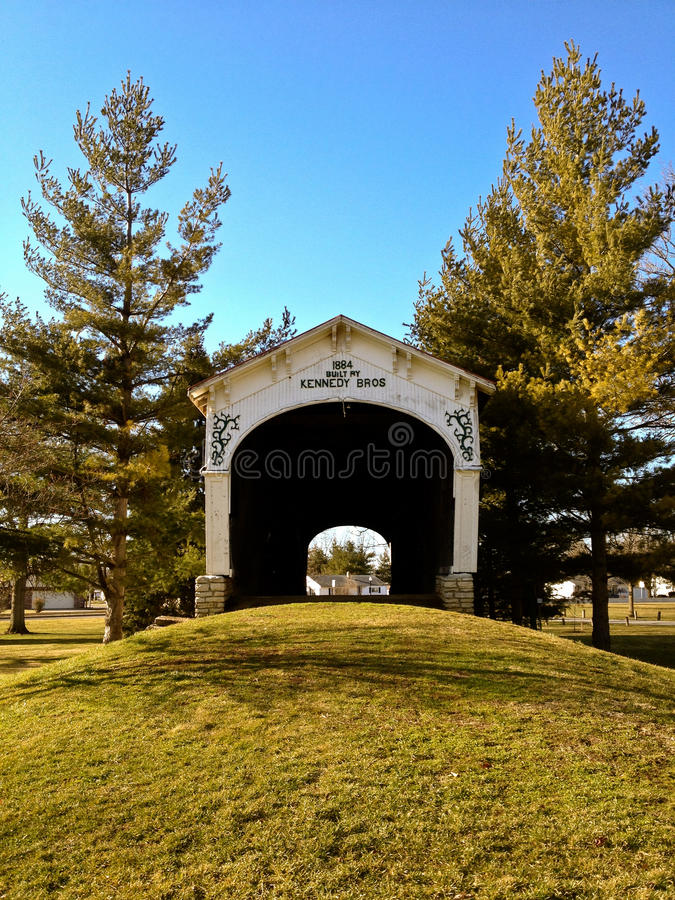 Kennedy Covered Bridge Connersville Indiana. Kennedy Bros Covered Bridge Connersville Indiana stock image