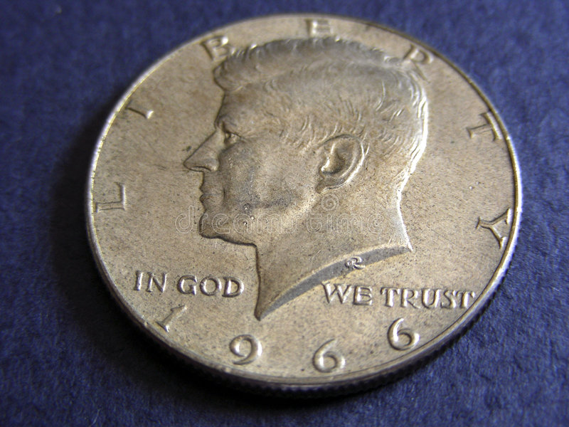 Kennedy Half Dollar royalty free stock images