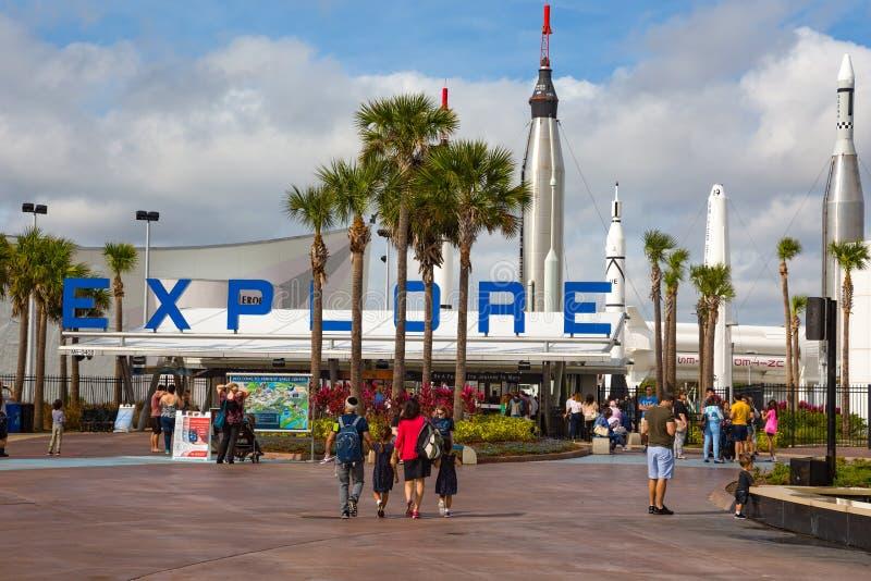 Kennedy Space Center-Eingang USA lizenzfreies stockfoto