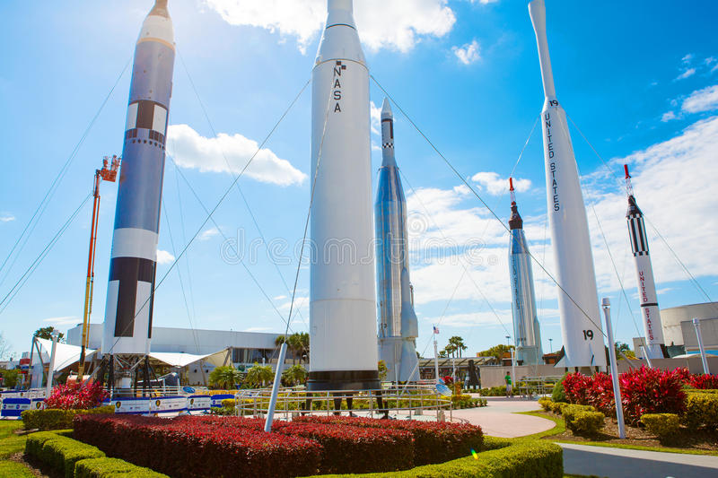 KENNEDY SPACE CENTER, FLORIDA, USA - APRIL 21, 2016: Kennedy Space Center near Cape Canaveral in Florida. KENNEDY SPACE CENTER, FLORIDA, USA - APRIL 21, 2016 stock images