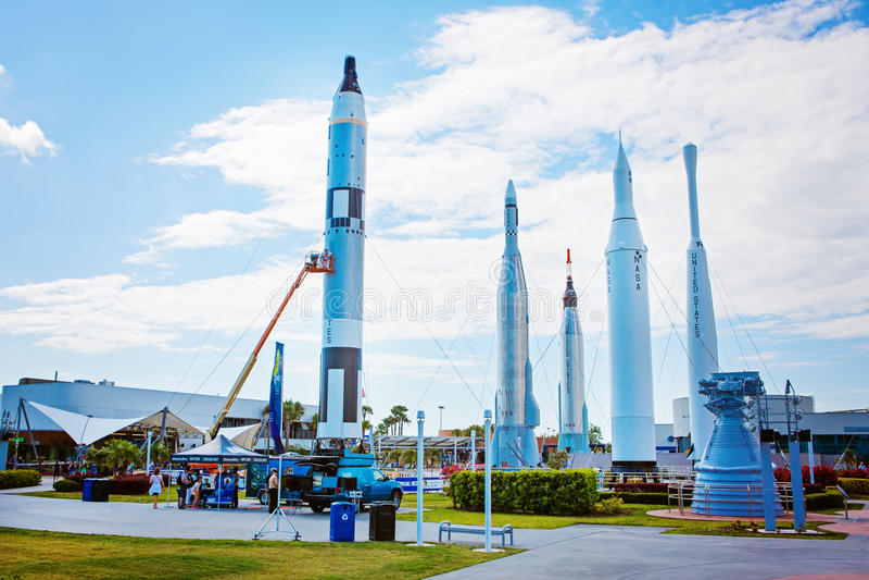 Kennedy Space Center perto de Cabo Canaveral em Florida, EUA fotos de stock