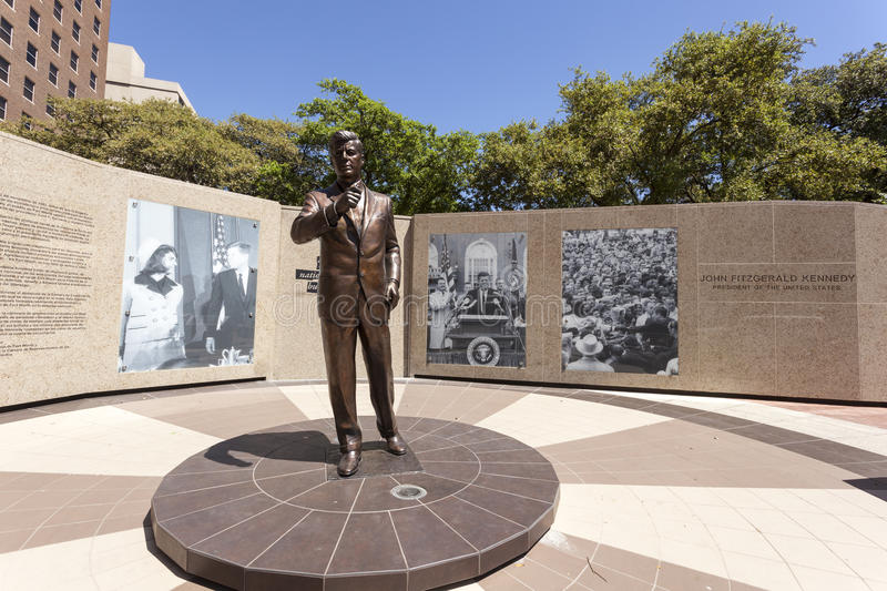 Kennedy statue in Fort Worth, Texas, USA royalty free stock photos