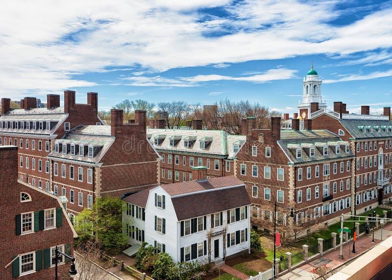 Kennedy Street dans la région d'Université d'Harvard à Cambridge mA Etats-Unis photographie stock