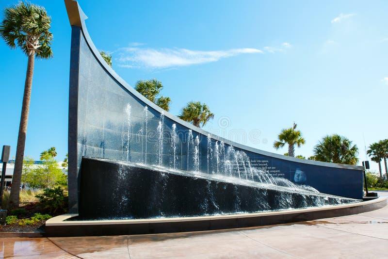 KENNEDY UTRYMMEMITT, FLORIDA, USA - APRIL 21, 2016: Kennedy Space Center nära Cape Canaveral i Florida arkivbilder