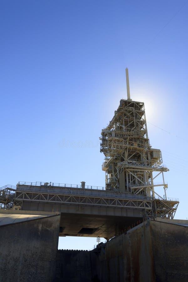 Kennedys Space Centers startramp 39A arkivfoton