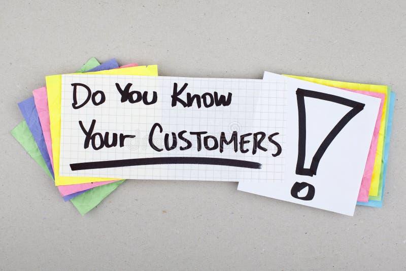 Kennen Sie Ihre Kunden lizenzfreies stockbild
