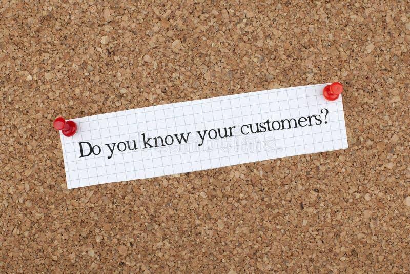 Kennen Sie Ihre Kunden stockfotografie