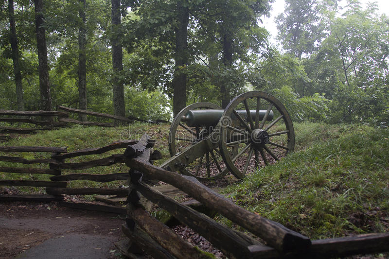 Kennesaw mountain national park. The battlefield of Kennesaw mountain national park in Atlanta, Georgia, USA stock image