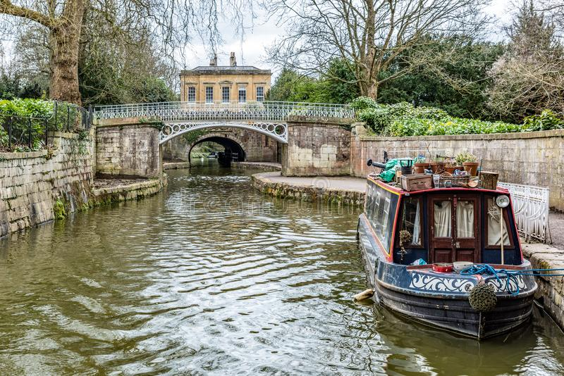 Kennet & Avon Canal. The Kennet and Avon Canal, Bath, UK stock images