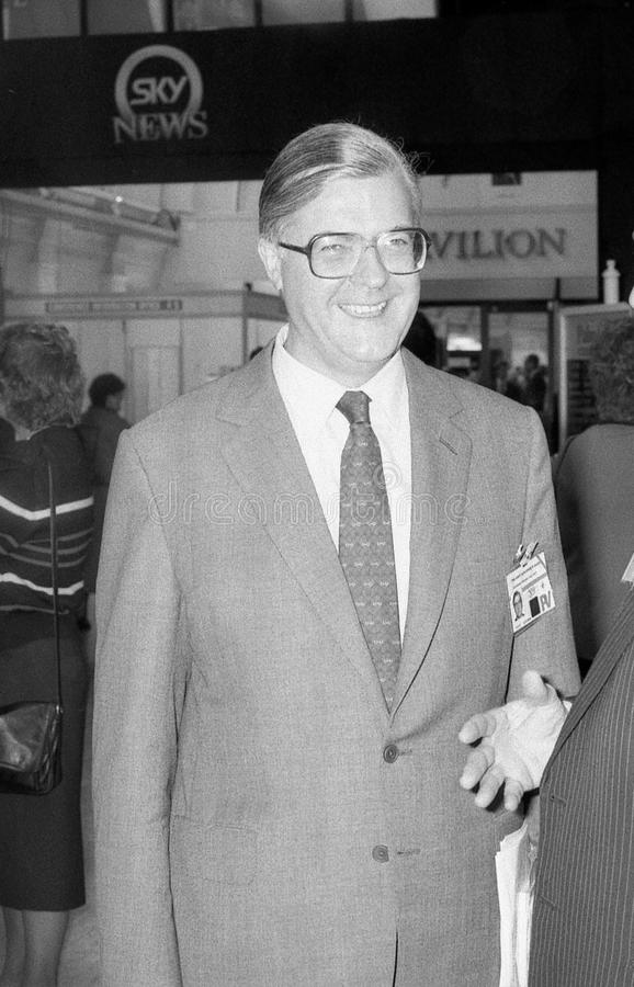 Kenneth Baker. Conservative party Member of Parliament for Mole Valley, visits the party conference on October 10, 1989 in Blackpool, England stock photo