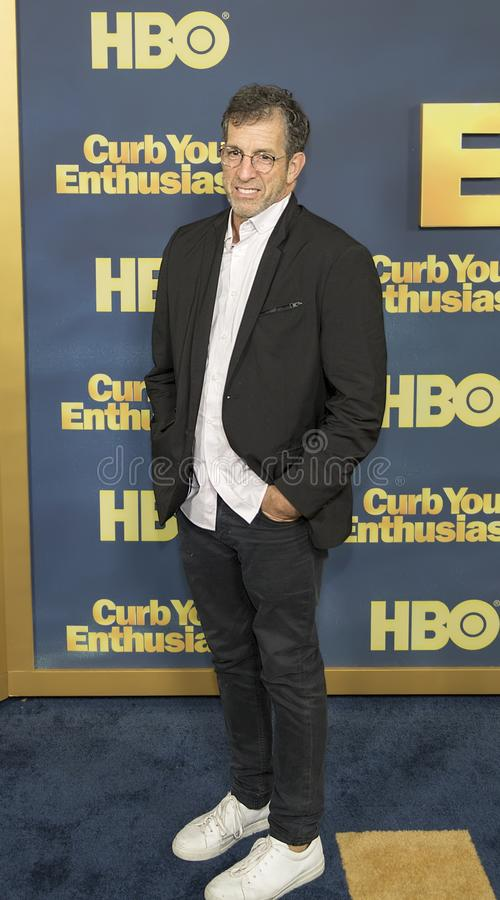 Kenneth Cole. Clothing designer Kenneth Cole arrives for the New York premiere of the 9th season of HBO`s hit comedy, `Curb Your Enthusiasm.` Larry David royalty free stock images