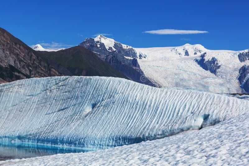 Kennicott glacier. Lake on Kennicott glacier, Wrangell-St. Elias National Park, Alaska royalty free stock photos