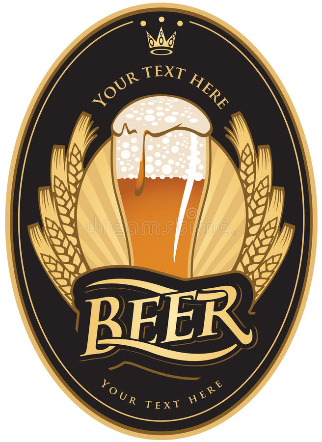 Kennsätze für das Bier vektor abbildung