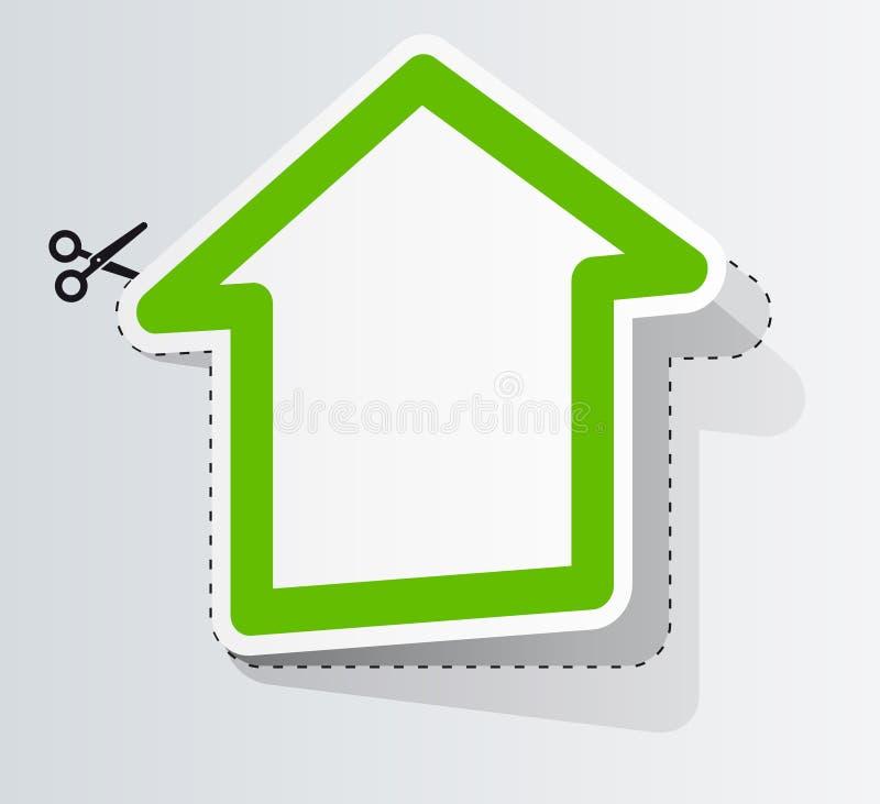 Kennsatz in der Form des Hauses lizenzfreie abbildung