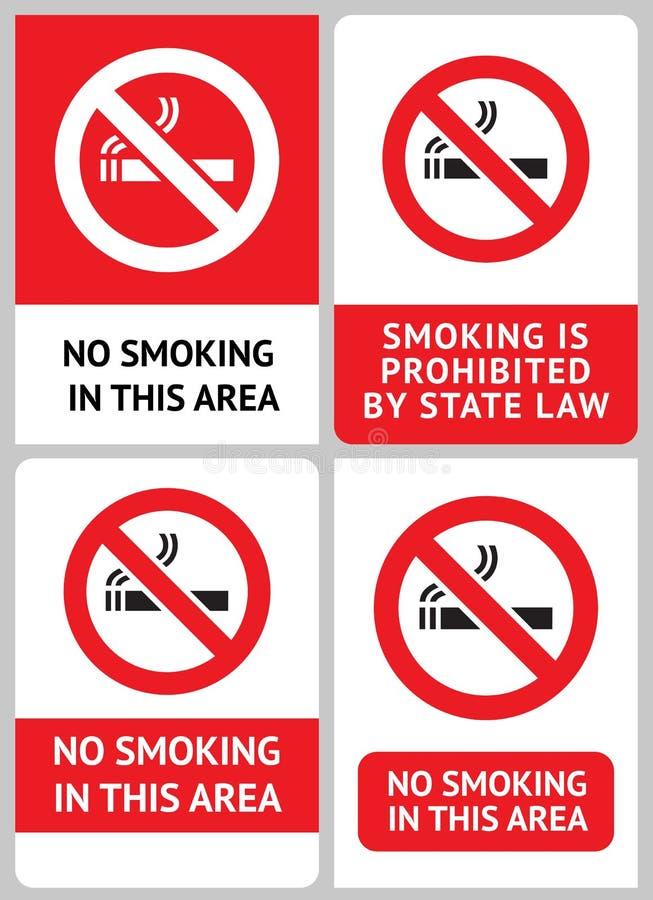 Kennsatzfamilie Nichtraucher stock abbildung