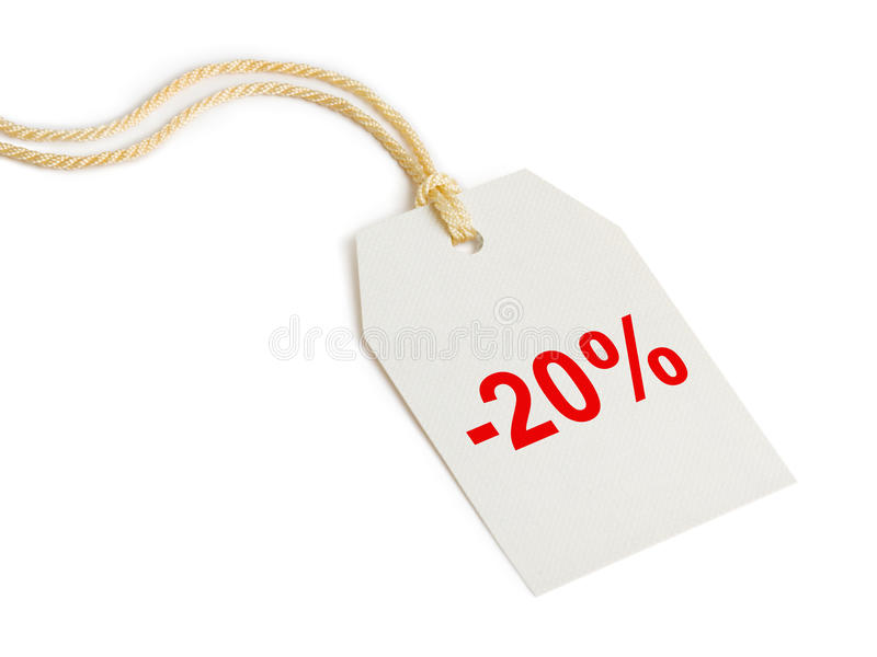 Kennsatzrabatt 20% lizenzfreie stockfotos