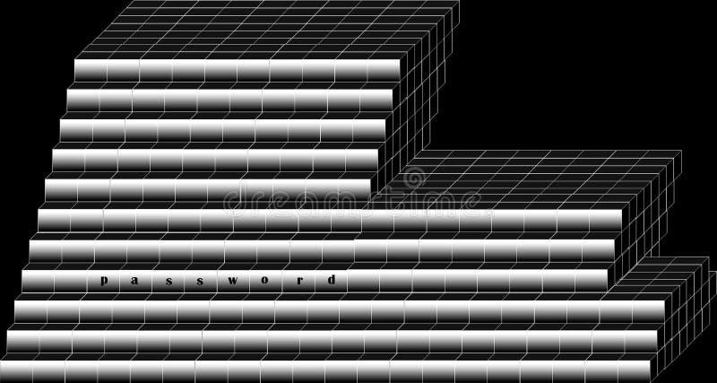 kennwort Illustration, Hintergrund vektor abbildung