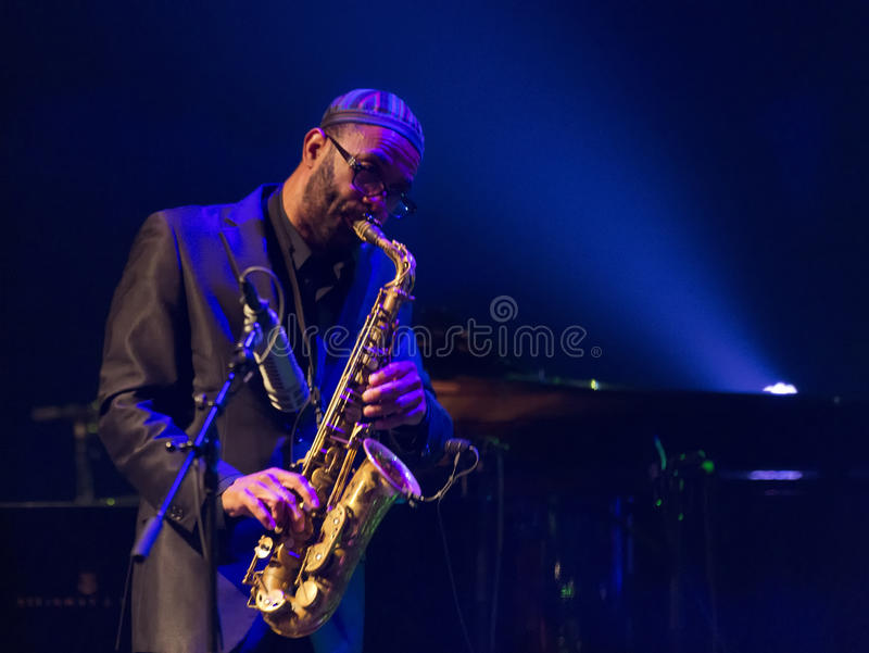 Kenny Garrett realiza vivo en 28va cuarta April Jazz fotos de archivo