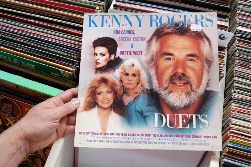 Kenny Rogers duetter royaltyfri fotografi