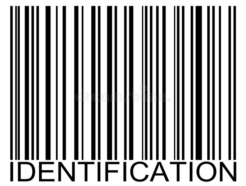 Kennzeichen-Barcode lizenzfreie abbildung