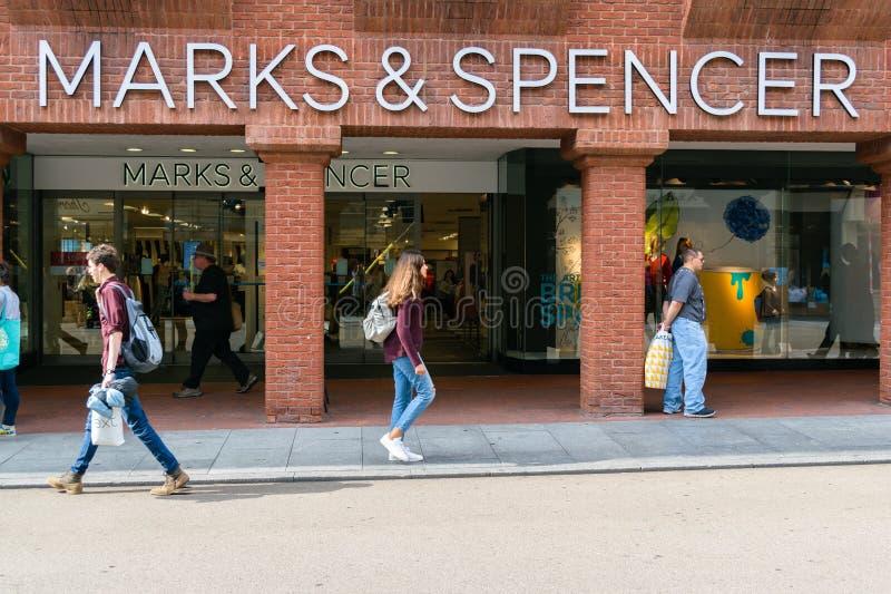 Kennzeichen- und Spencer-Shop stockfotografie