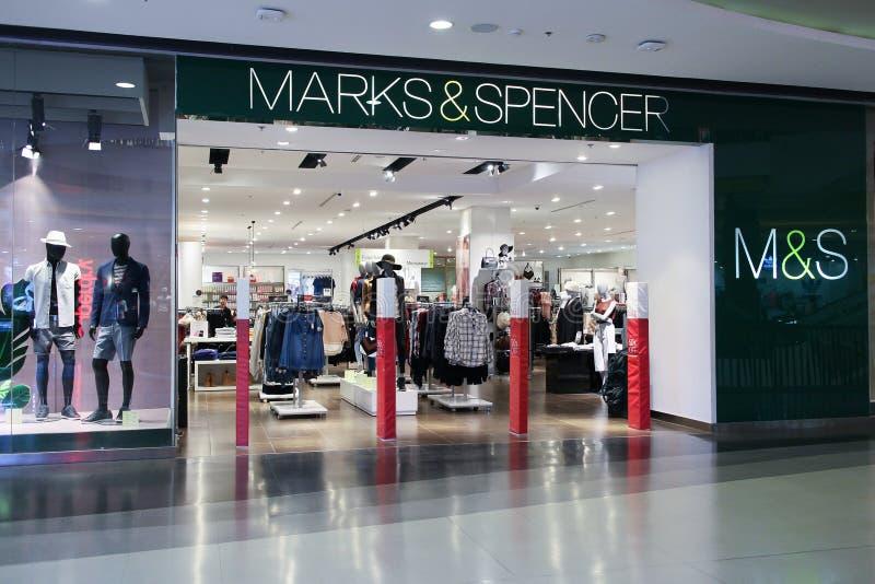 Kennzeichen- und Spencer-Shop lizenzfreies stockfoto