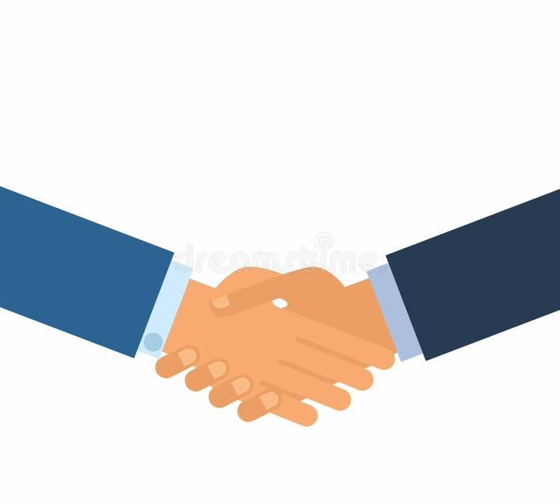 Kennzeichnen eines Vertrages Geschäftshändedruck für Abkommen und Teamwork-Konzept die internationale Zusammenarbeit lizenzfreie abbildung