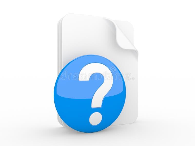 Kennzeichnen Sie auf einer Frage und einem Blatt Papier vektor abbildung