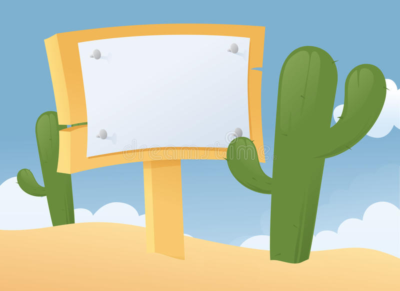Kennzeichnen Sie innen die Wüste lizenzfreie abbildung