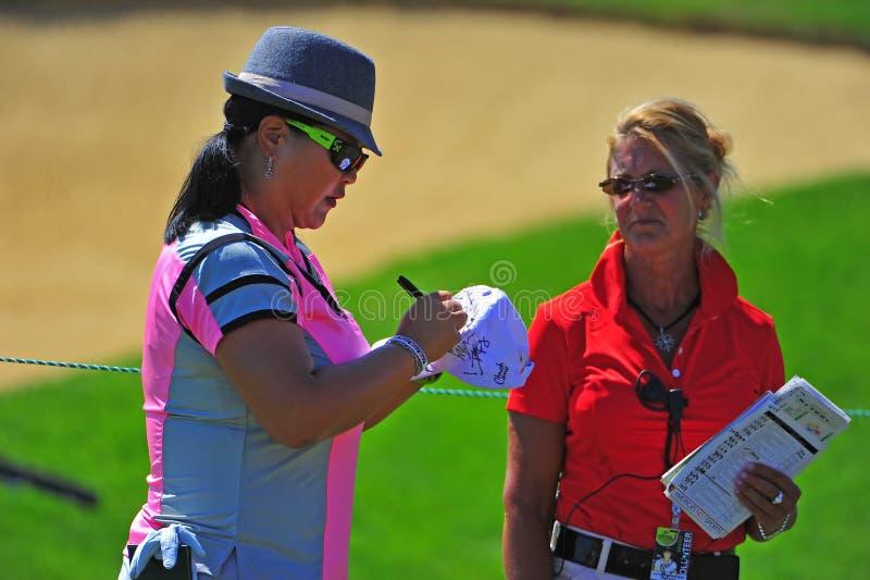 Kennzeichnendes Autograph Christina-Kim LPGA stockfotografie
